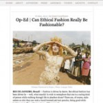 Op-Ed | Can Ethical Fashion Really Be Fashionable?