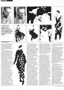Galliano.fashion weekly June 19872